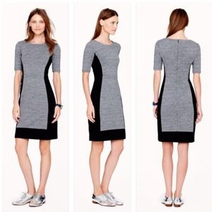 J.Crew Colorblock Paneled Stretch Dress | Size 8